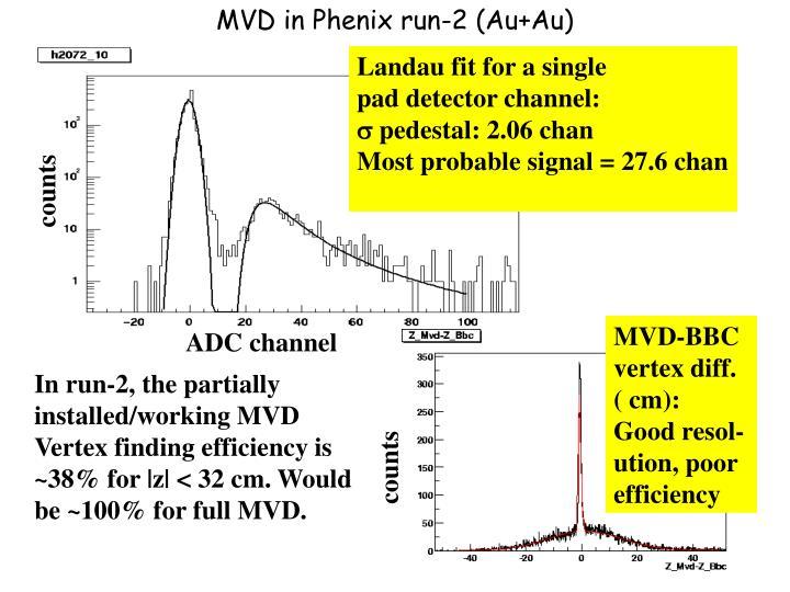 MVD in Phenix run-2 (Au+Au)