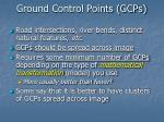 ground control points gcps