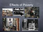 effects of poverty