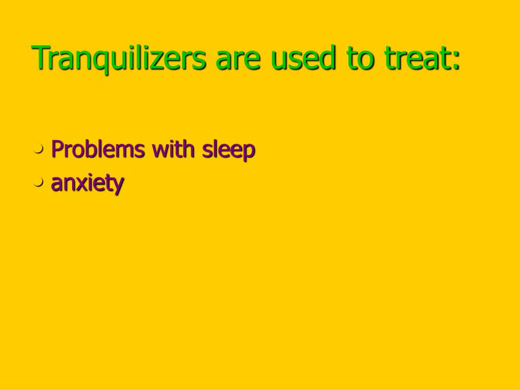 PPT - Tranquilizers PowerPoint Presentation - ID:5317957