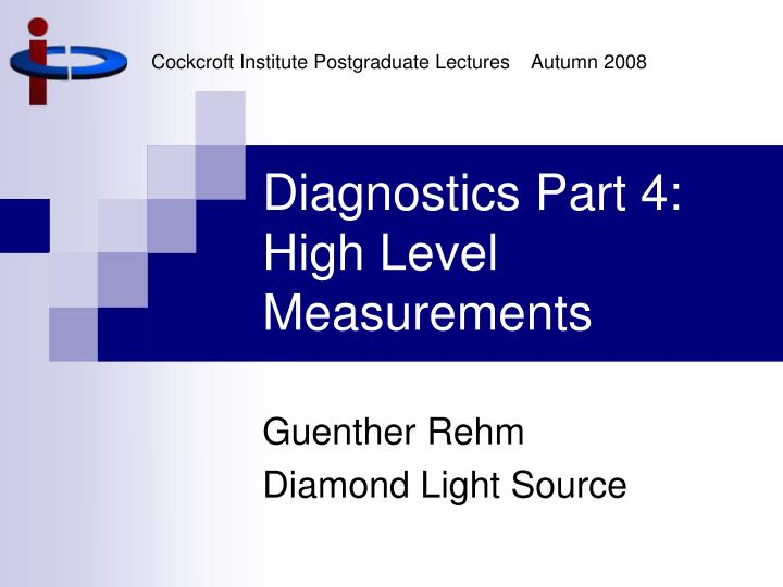 diagnostics part 4 high level measurements n.