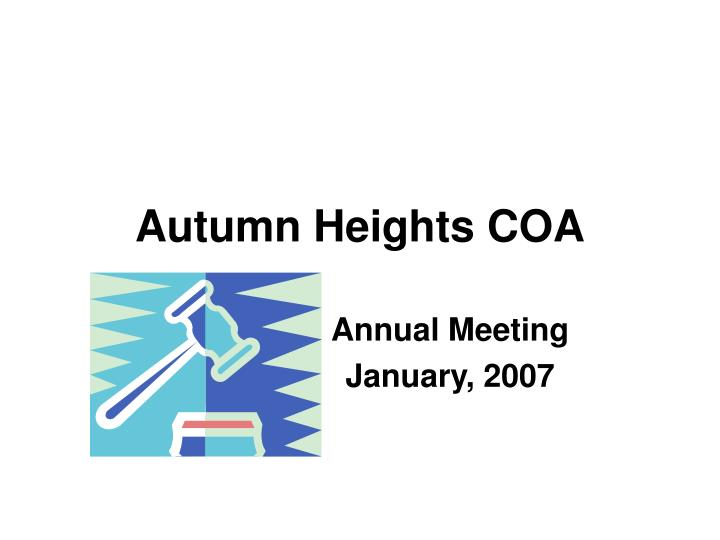autumn heights coa n.