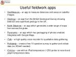 useful fieldwork apps