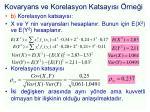 kovaryans ve korelasyon katsay s rne i6