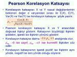 pearson korelasyon katsay s