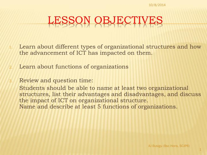 PPT - Lesson Objectives PowerPoint Presentation - ID:5318159