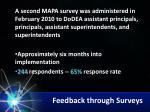feedback through surveys