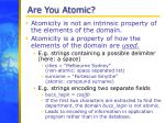 are you atomic