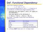 def functional dependency
