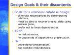 design goals their discontents