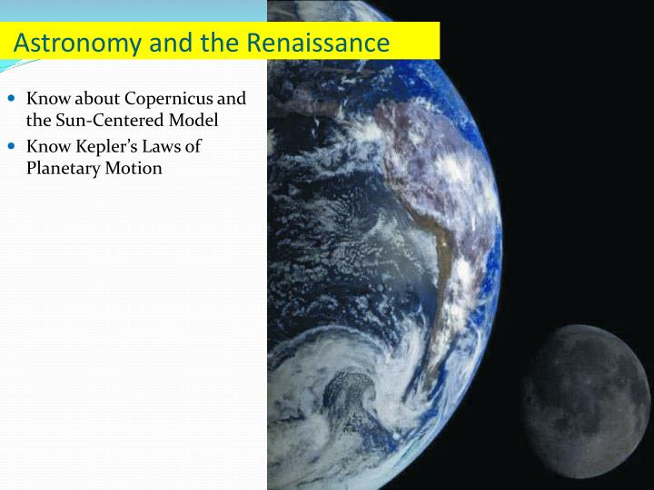 astronomy and the renaissance n.