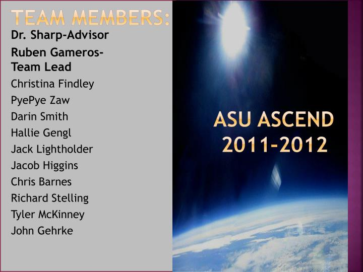 team members asu ascend 2011 2012 n.