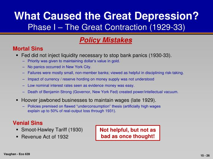 what caused the great depression in 1929 essay Causes of the great depression essay - in 1929 the stock market crashed, triggering the worst depression ever in us history, which lasted for about a decade during the.