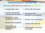 institutional strengths those areas of high importance to students and high satisfaction