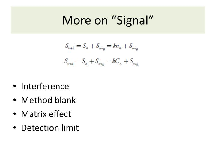 more on signal n.