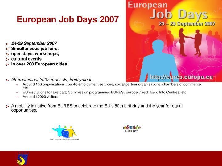 European Job Days 2007