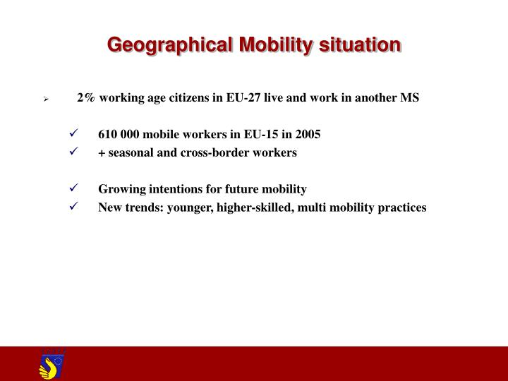Geographical mobility situation