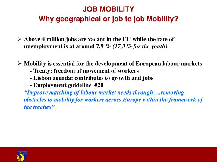 Job mobility why geographical or job to job mobility