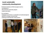 local sustainable community development