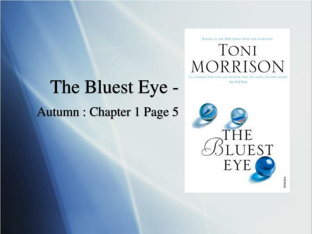 thesis statement for the bluest eye