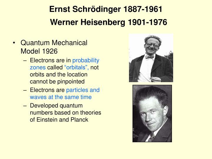 Ernst Schrödinger 1887-1961