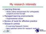 my research interests1