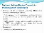 national actions during phases 5 6 planning and coordination