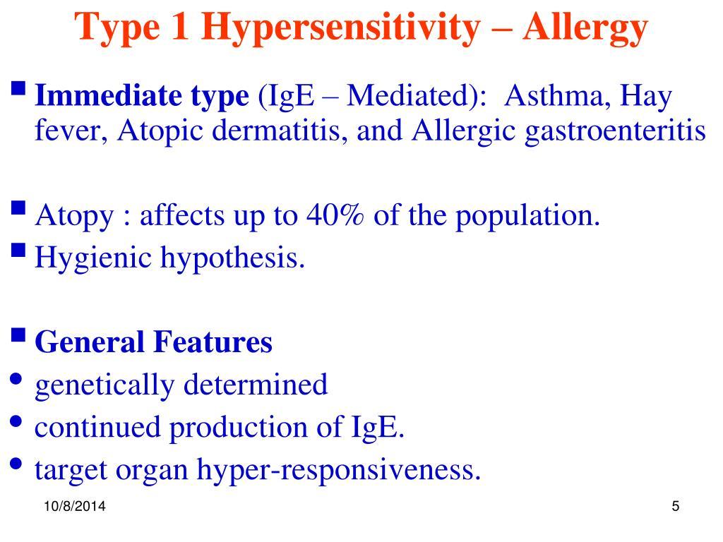 Asthma Hypersensitivity Reaction Type - Asthma Lung Disease
