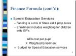 finance formula cont d