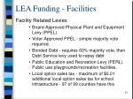 lea funding facilities