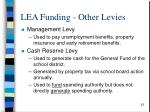 lea funding other levies