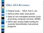 other aea revenues