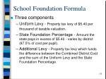 school foundation formula