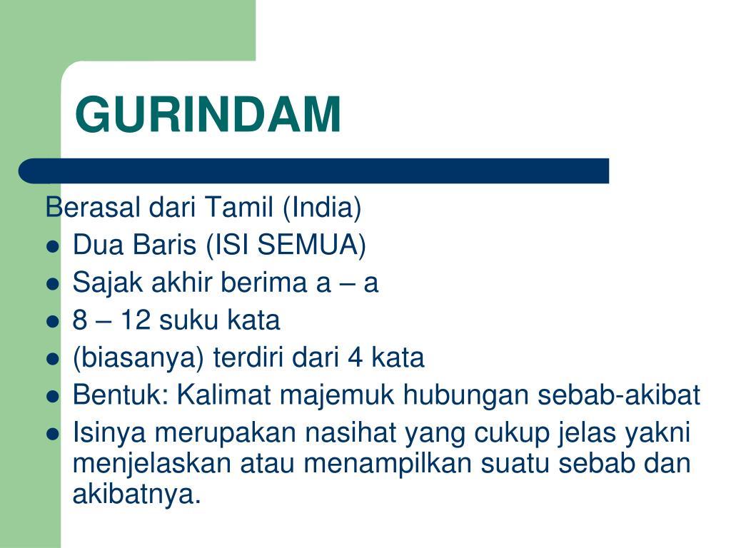 PPT - GURINDAM PowerPoint Presentation, free download - ID ...