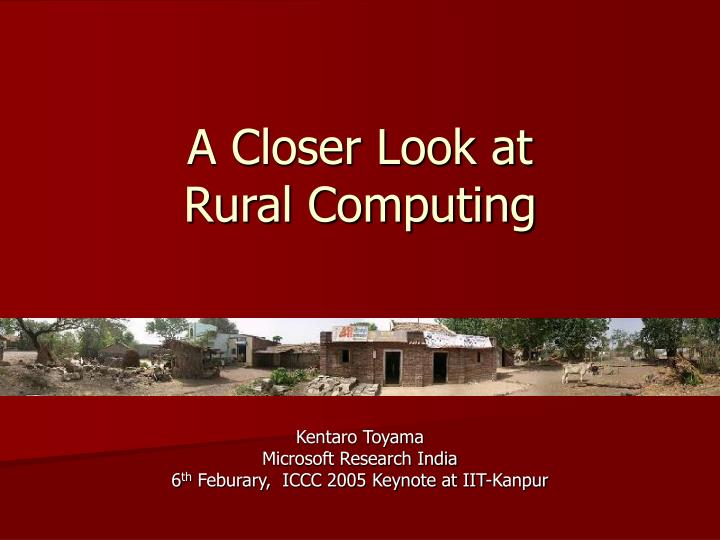 a closer look at rural computing n.