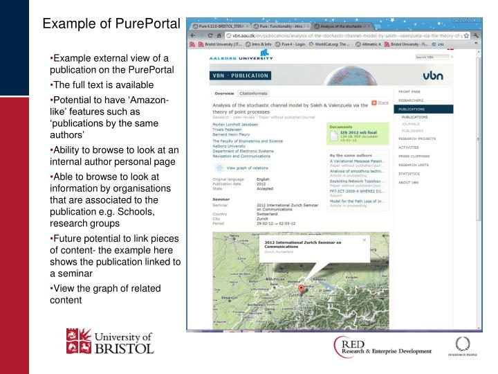 Example of PurePortal