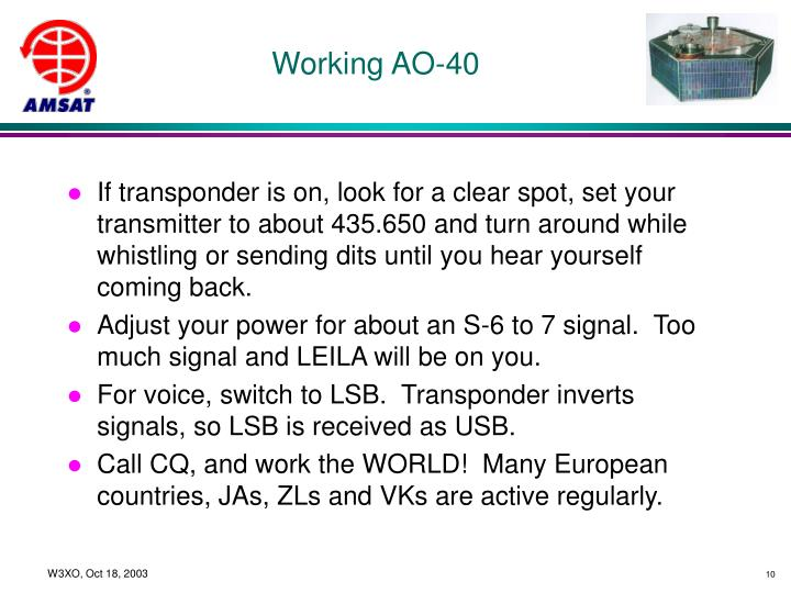Working AO-40