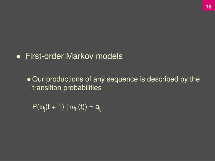 First-order Markov models