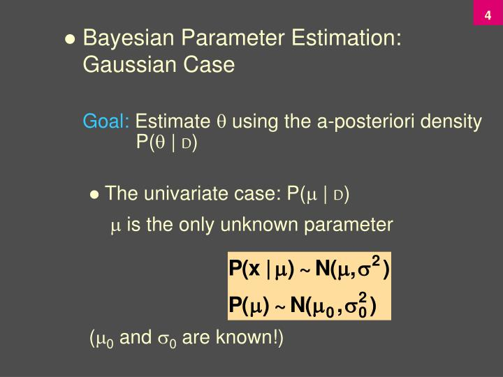 Bayesian Parameter Estimation: Gaussian Case