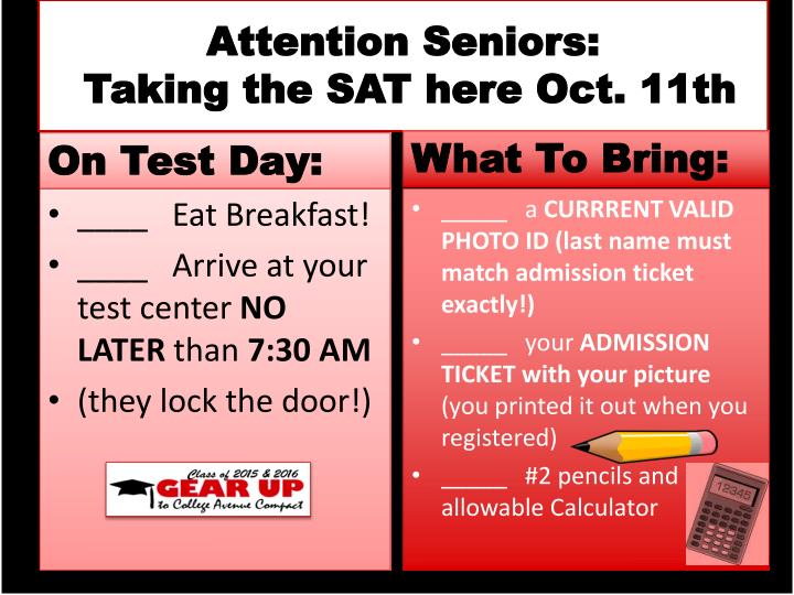 Attention Seniors: