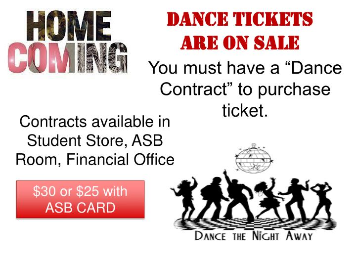 Dance Tickets