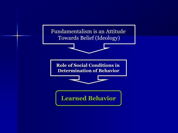 Fundamentalism is an Attitude