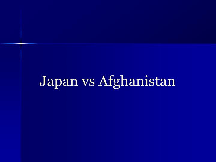 Japan vs Afghanistan
