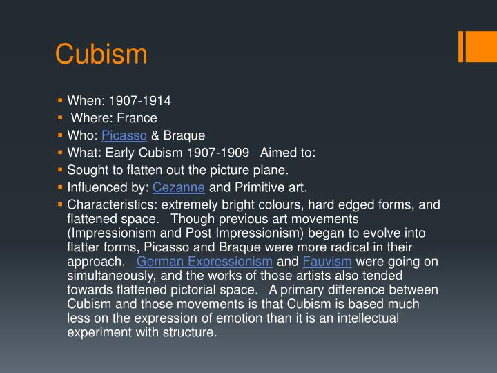 influences of cubism impressionism expressionism and futurism in marcs work From his early influences of cubism and futurism, morandi adopted his own recognizable painting style  marinetti's work combines art and poetry into a form he .