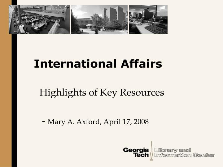 international affairs n.