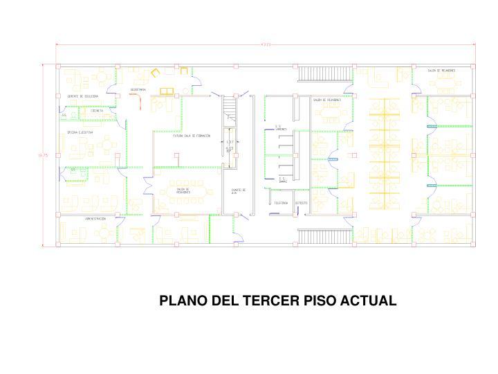 PLANO DEL TERCER PISO ACTUAL