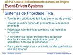 se p a sw str escalonamento garantia em projeto event driven systems