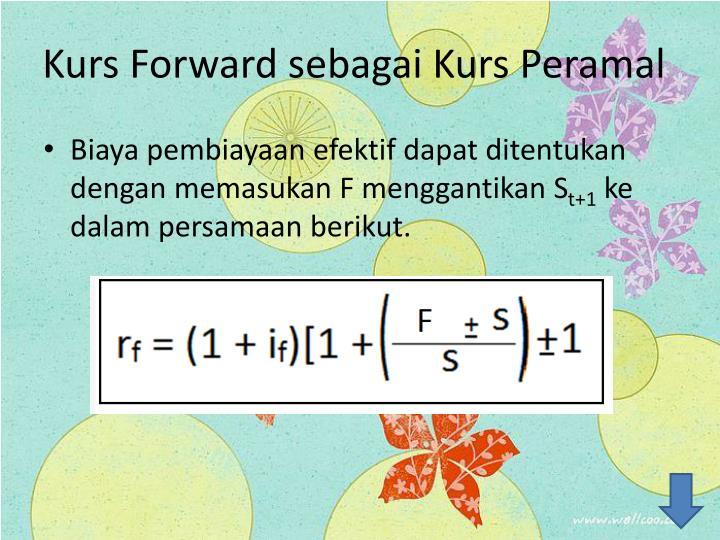 Kurs Forward sebagai Kurs Peramal