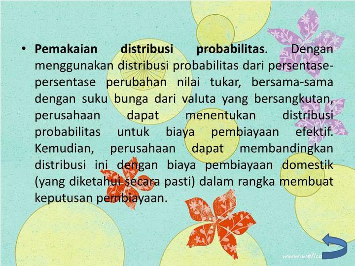 Pemakaian distribusi probabilitas