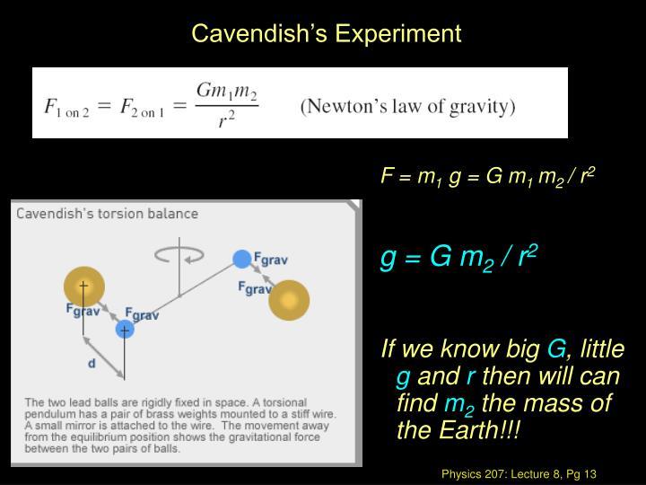 Cavendish's Experiment
